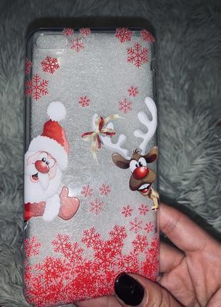 Рождественский чехол на iphone 7 plus❄️❄️❄️