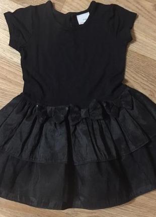 Очень красивое праздничное детское платье черное с бантами