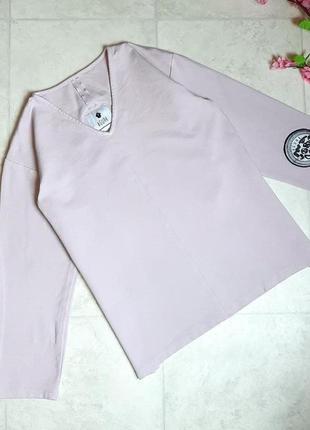 1+1=3 модный свитер лавандового цвета с разрезами по бокам agurk, размер 46 - 48