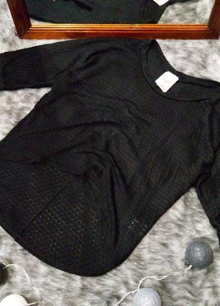 Свитер топ пуловер с ассиметричным удлиненным низом