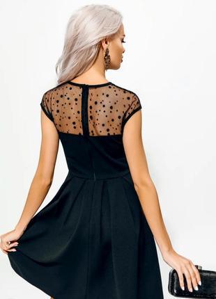 Вечернее платье  transparent coquette короткое черное