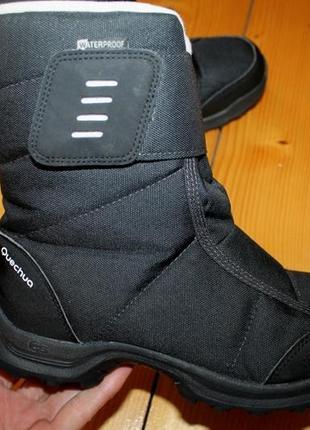 37 и 38 разм. зимние ботинки quechua.термо и не промокают