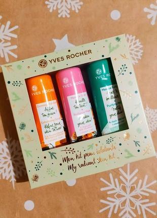 Новорічний подарунковий набір масок для обличчя ів роше ив роше yves rocher