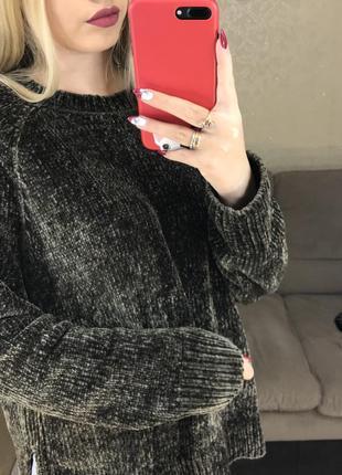Велюровый свитер2 фото