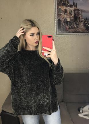 Велюровый свитер4 фото