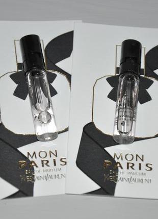 Yves saint laurent mon paris парфюмированная вода (пробник)