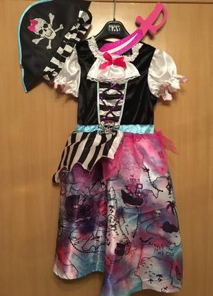 Карнавальный костюм пиратка платье пиратки разбойницы
