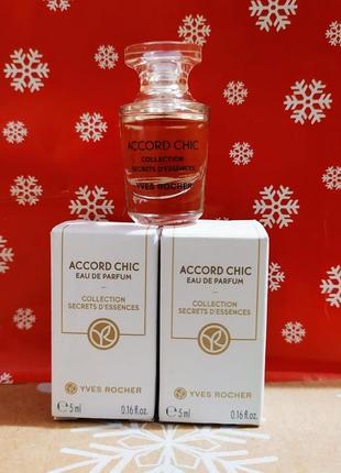 Розпродаж!міні парфумована вода accord chic ив роше yves rocher