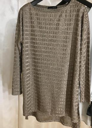 Бронзовая блузка zara