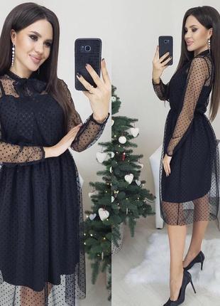 Платье сетка