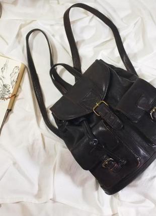 Винтажный офигенный рюкзак из натуральной кожи harolds (ретро, винтаж)