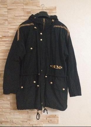 Мега крутая модная фирменная парка mcm🔥🔥🔥🔥🔥 куртка заклепки надписи 48-52р