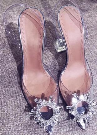 Туфли силиконовые со стразами