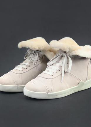 Шикарные ботинки trainers shearling lambskin pink (зима)