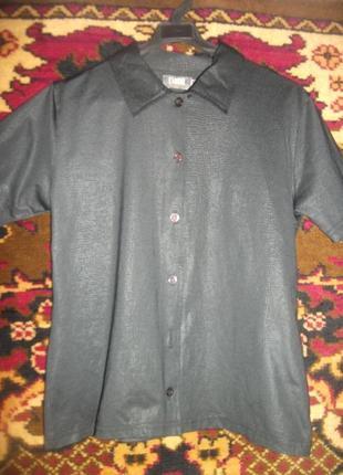 Черная рубашка camera