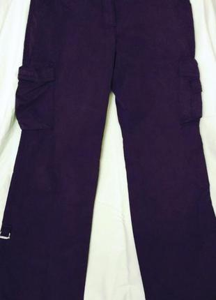Черные  брюки карго р  l32