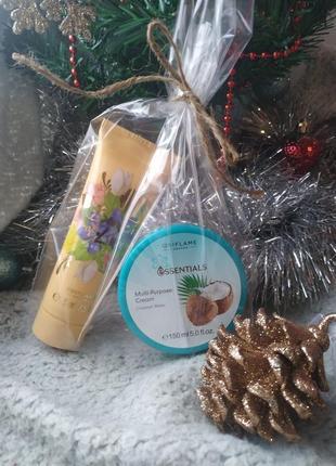 Набор в подарочной упаковке: крем для рук + крем для тела