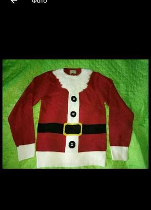 Новогодний свитер дед мороз санта