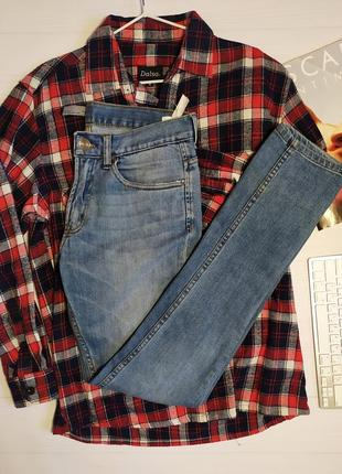 Мужские джинсы узкие голубые zara