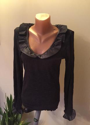 Супер классная нарядная кофточка от бренда oscalito шерсть и шелк!
