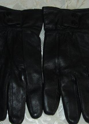 Роскошные , теплые перчатки 100 % кожа - м