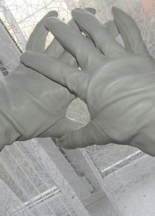 Роскошные , стильные перчатки 100 % кожа - 8.5