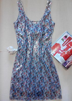 Классное платье-майка в паетках