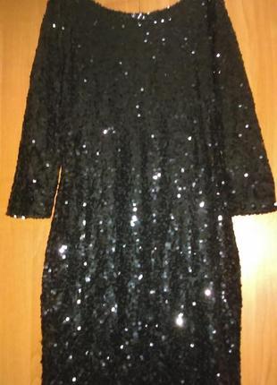 Платье с пайетками. размер 44 + -