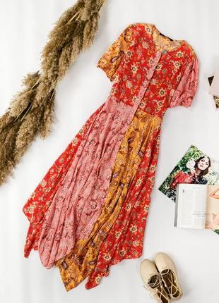 Платье в стиле бохо с ассиметричным низом dr 1950114  zara