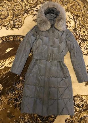 Тёплое зимнее пальто пуховик с капюшоном. зимняя куртка и сумка