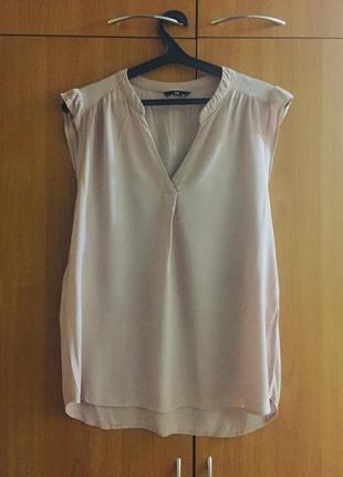 Модная и красивая блузка цвет пудра идеал вискоза h&m
