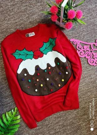 Новогодний свитер. свитер оверсайз