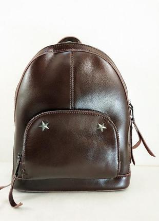 Кожаный рюкзак -сумка 2 в1м