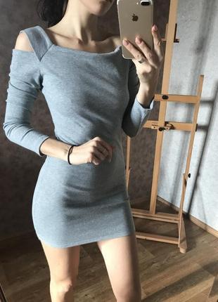 Платье/туника с открытыми плечами