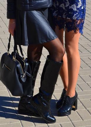 Стильные ботинки spagma весна-осень на устойчивом каблуке, размер 39