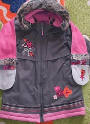 Зимнее  пальто deux par deux, размер 6х