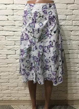 Летняя юбка из натуральной ткани