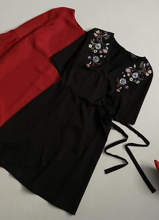Красивейшее платье на запах с вышивкой new look