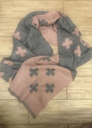 Тёплый двухсторонний шарф