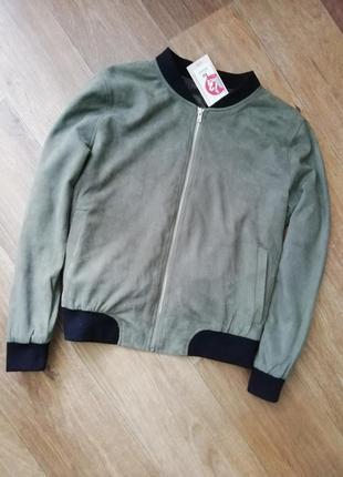 Куртка искуственный замш, ромпер, бомбер, ветровка, курточка,