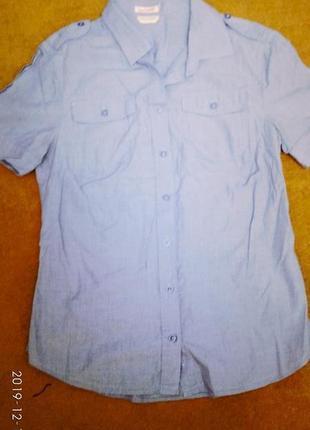 Стильная женская рубашка с коротким рукавом р м