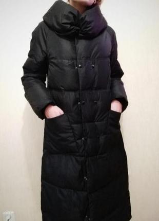 Длинный пуховик пальто-одеяло на тинсулейте