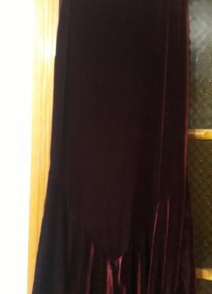 Юбка  велюровая бархотная 44 -48 размера