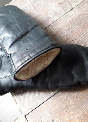 Отличные утепленные кожаные варежки