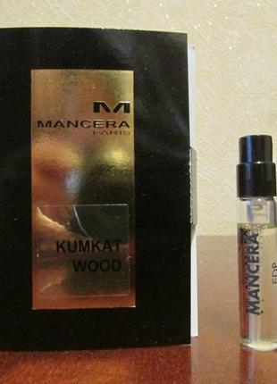 Парфюмированная вода kumkat wood mancera 2 мл.