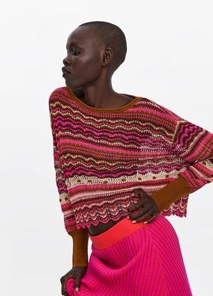 Новый ажурный свитер кофта zara