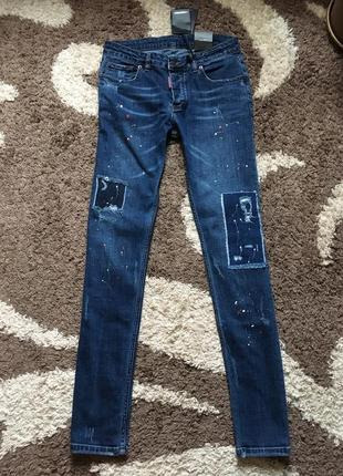 Сині джинси skinny dsquared2 denim оригінал з етикетками