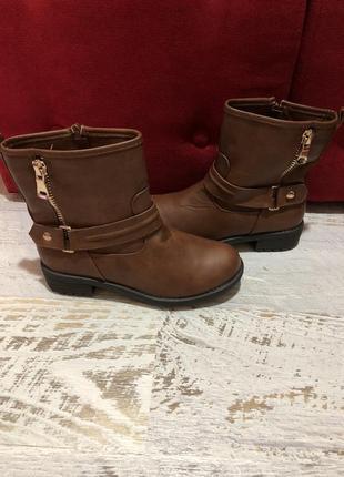 Новые демисезонные ботинки 37р.
