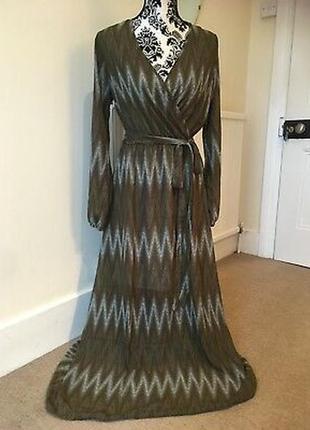 Avon длинное платье с поясом, декольте на запах, р.38-40, м-ка