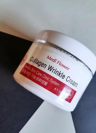 Крем для лица medi flower collagen wrinkle cream.
